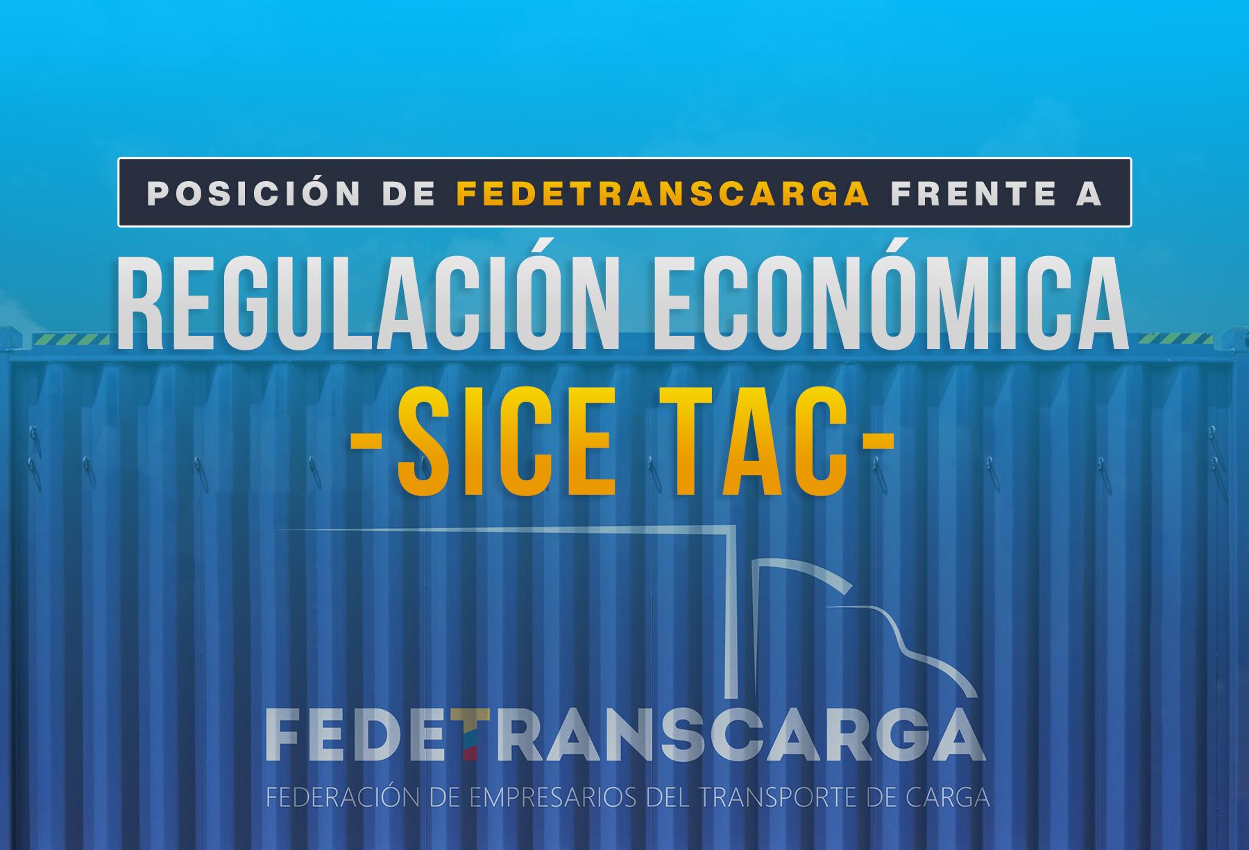 Fedetranscarga solicita determinar el 12% de intermediación -Sice Tac-.