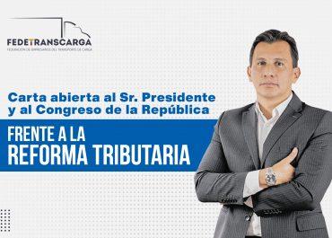 Carta al presidente Iván Duque y el Congreso de la República sobre la Reforma Tributaria