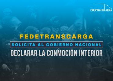 Fedetranscarga solicita declarar estado de conmoción interior ante bloqueos