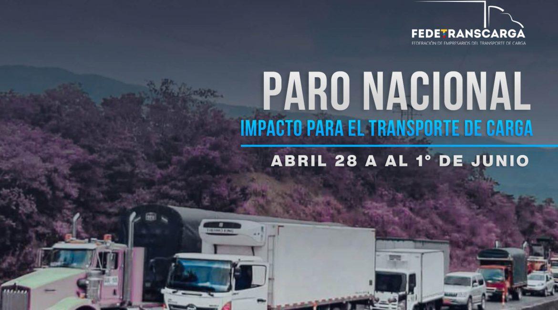 Paro Nacional, impacto para el transporte de carga abril-junio